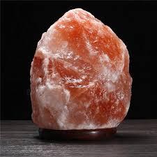 Himalayan Ionic Salt Lamp by 30 X 18cm Natural Himalayan Ionic Air Purifier Rock Crystal Salt