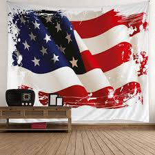 American Flag Wall Hanging 3d Patriotic Tapestry Colorful W Inch