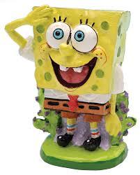 Spongebob Aquarium Decor Set by Amazon Com Penn Plax Spongebob Resin Ornament Aquarium Decor