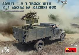 MiniArt Military 1/35 Soviet 1.5-Ton Cargo Truck W/ M4 Maxim AA ... 4x4 Desert Military Truck Suppliers And 3d Cargo Vehicles Rigged Collection Molier Intertional Ajban 420 Nimr Automotive I United States Army Antique Stock Photo Picture China 2018 New Shacman 6x6 All Wheel Driving Low Miles 1996 Bmy M35a3 Duece Pinterest Deployed Troops At Risk For Accidents Back Home Wusf News Tamiya 35218 135 Us 25 Ton 6x6 Afv Assembly Transportmbf1226 A Big Blue Reo Ex Military Cargo Truck Awaits Okosh 150 Hemtt M985 A2 Twh701073 Military Ground Alabino Moscow Oblast Russia Edit Now