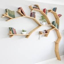 100 Tree Branch Bookshelves The Windswept Oak Shelf