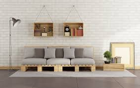 Living room with pallet sofa HomeStyleDiary