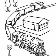 Model Train Coloring Page