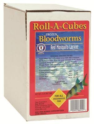 San Francisco Bay Brand ASF88255 Frozen Bloodworms Cubes for Freshwater Fish - 2lbs
