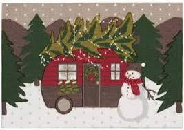 St Nicholas Square Christmas Trailer Accent Rug
