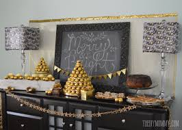 Ferrero Rocher Christmas Tree Diy by A Gold And Black Christmas And New Year U0027s Dessert Table Idea With
