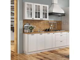 landhaus einbauküche lora 240 cm 7 teilig fronten mit lamellen