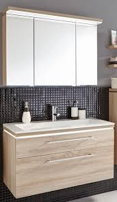 puris cool line badmöbel set 92 cm spiegelschrank inkl gesimsboden mit led flächenleuchte