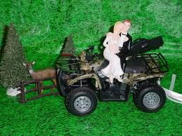 Deer Hunting Fan 4x4 ATV Sports Camo Grooms Wedding Cake Topper G1