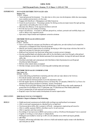 Download Distribution Sales Resume Sample As Image File