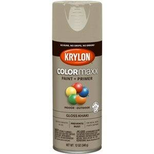 Krylon K05526007 COLORmaxx Spray Paint Gloss Khaki 12 Ounce