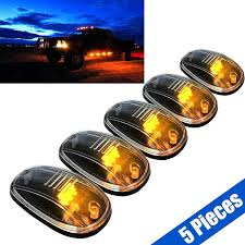 100 Truck Clearance Lights 5pcs Clear LED Roof Top SUV Cab Marker Running