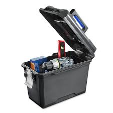 Shop Kobalt Zerust 15.75-in Plastic Lockable Tool Box (Black) At ...