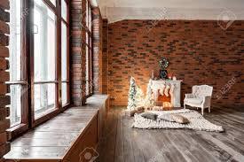 100 Brick Loft Apartments Apartments Brick Wall With Candles And Christmas Tree Wreath