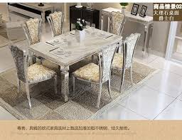 Dining Table Sets Marble 4 Chairs Modern Stylish Room Set Cheap
