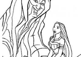 Pocahontas Coloring Pages With Grandmother Willow Tree Coloring4free