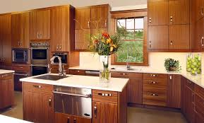 Design For Wholesale Cabinets Usa Kitchen Brown Rectangle Contemporary Wooden Varnished Ideas Kitchens With Vase