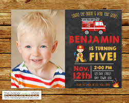 Firefighter Invitation | Firefighter Chalkboard Invitation With ...