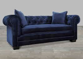 velvet sofa with nailheads