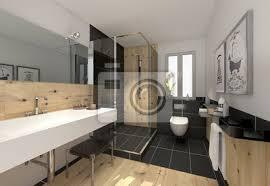 fototapete klein raffiniert modern bad badezimmer duschbad minibad