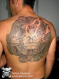 Aztec Mayan Inca Sun Tattoo Large