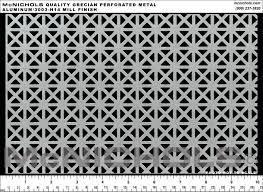 Decorative Sheet Metal Banding by Mcnichols Quality Decorative Perforated 032 Gauge Aluminum