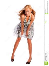 beautiful young female model in summer dress stock images image