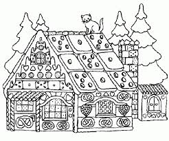 Online Gingerbread House Coloring Pages To Print AycRt