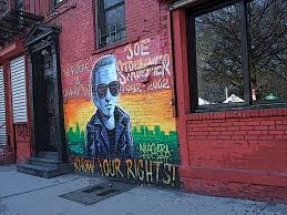 Joe Strummer Mural East Village by Forces Of Heaven And Hell Bald Punk