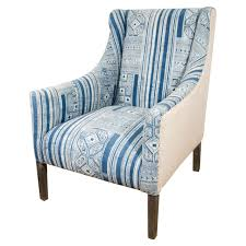 indian dhurrie upholstered blue and white chair at 1stdibs