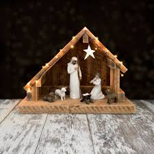 Nativity Creche Stable With Slant Roof Reclaimed Barn Wood Was Jesus Really Born In A Stable Nativity Scene Pictures Hut With Ladder And Barn Online Sales On Holyartcom Scenes Nativity Sets Manger Display Yonderstar Handmade Wooden Opas Scene Christmas Set Outdoor Manger Family Wooden Setting House Red Roof Trough 2235x18 Cm For Vintage Wood Creche Religious Amazoncom Fontani 5 54628 Stable Fountain 28x42x18cm Fireplace 350x24 Bungalow Like Neapolitan 237x29cm