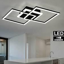 luxus led decken le ess zimmer leuchte küchen strahler schwarz matt dimmer ebay