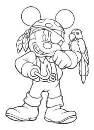 Pirate Mickey Printable Coloring Pages