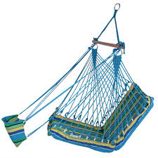 sunnydaze hanging hammock chair with footrest 26 w
