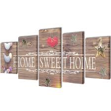 Canvas Wall Print Set Home Sweet Home Design 39