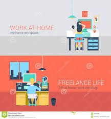 Office And Freelance Work In Workplace Furniture Vector Concept ... Work From Home Graphic Design Mannahattaus Best 25 Freelance Graphic Design Ideas On Pinterest Personal Online Assistant Character Stock Vector Awesome Contemporary Decorating Web Peenmediacom 100 Jobs Beautiful Can Bristol Working Office Banners 458591833 Job Posting Sites Search Search Flat 428869168 Oli Lisher Freelance Website Designer Illustrator Greetings When I Am Not Illustrating A Commercial