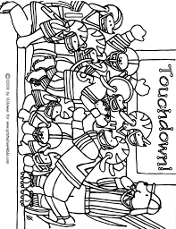 Football Game Coloring Page Printables For Kids Free Word Pages Games