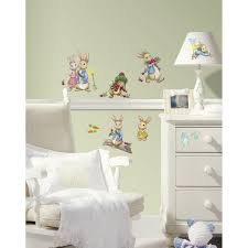 Peter Rabbit Bedding by 1 X Roommates Rmk2605scs Peter Rabbit Peel And Stick Wall Decals