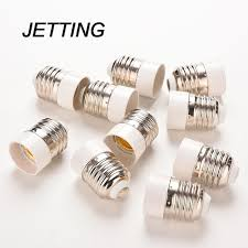 jetting new 5pcs fireproof material e27 to e14 l holder