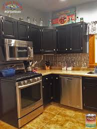 Nuvo Cabinet Paint Driftwood by These Kitchen Cabinets Were Stained With Gf Black Gel Stain For A