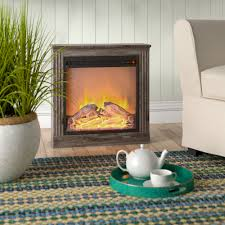 Beachcrest Home Solvi Simple Electric Fireplace & Reviews