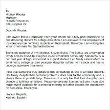Re mendation Letter Format Letter Re mendation Scholarship