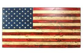 First Responder XL Wooden American Flag