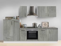 küchenzeile unico 300 cm betonoptik weiß geschirrspüler e geräte block expendio