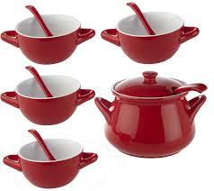 Pumpkin Soup Tureen And Bowls by 11pc Porcelain Soup Tureen Serving Spoon U0026 Soup Bowl Set U2014 Qvc Com