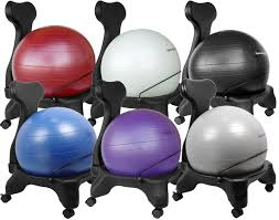 yoga ball office chair size