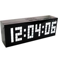 horloge de bureau design 4 couleurs led horloge numérique alarme horloge murale table de