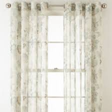 Sheer Curtain Panels With Grommets by Jcpenney Home Bismarck Grommet Top Sheer Curtain Panel Jcpenney