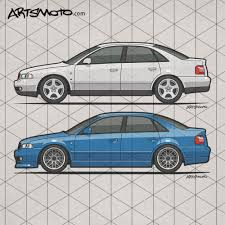 Audi A4 B5 Quattros – Side view of an german made Audi A4 B5 Typ