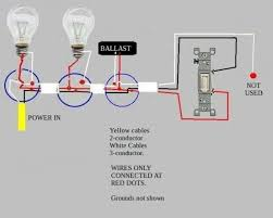 troubleshooting problem wiring power two fluorescent ballasts